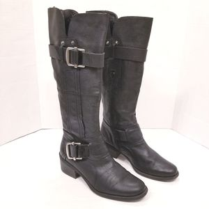 Kelly & Katie Leather Buckled Riding Boots